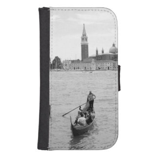 Black and White Gondola in the city of Venice Phone Wallet