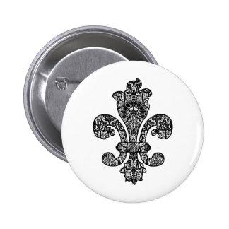 Black and White Goth 2 Inch Round Button