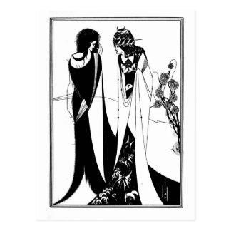 Black and white goth gothic art nouveau Salome Postcard