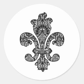 Black and White Goth Classic Round Sticker