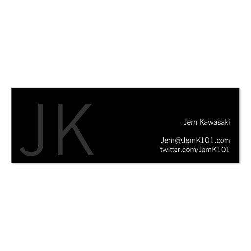 Black and White Gothic Double-Sided Mini Business Cards (Pack Of 20)