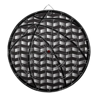 Black and White Gradient Basketball Dart Board