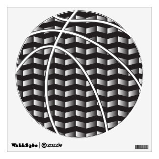 Black and White Gradient Basketball Wall Decal