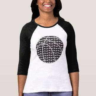 Black and White Gradient Basketball Women T-Shirt