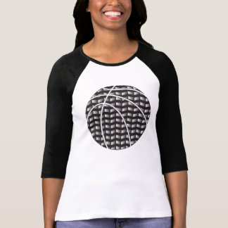 Black and White Gradient Basketball Women T-Shirt