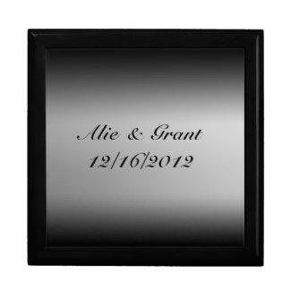 Black and White Gradient Horizon Gift Box