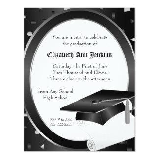 Black and White Graduation Announcement
