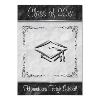 Black and White Graduation Invitations