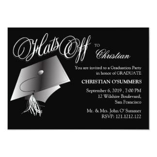 Black and White Graduation Party Invitation