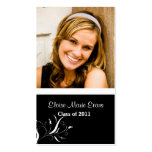 Black and White Graduation Rep card Double-Sided Standard Business Cards (Pack Of 100)