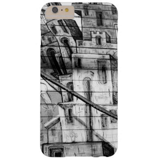 Black and White Graffiti in San Francisco Barely There iPhone 6 Plus Case