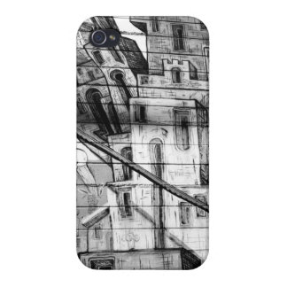 Black and White Graffiti in San Francisco Cover For iPhone 4