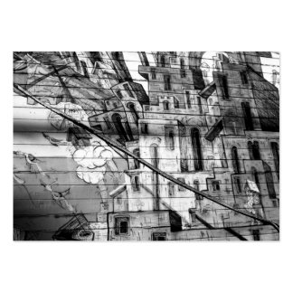 Black and White Graffiti in San Francisco Large Business Cards (Pack Of 100)
