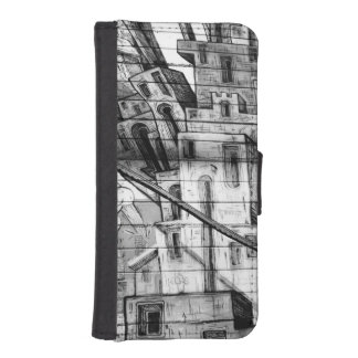 Black and White Graffiti in San Francisco Wallet Phone Case For iPhone SE/5/5s