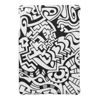 Black and white graffiti minimal art iPad mini case