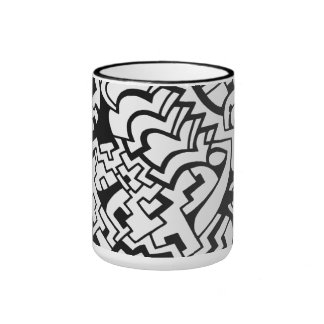 Black and white graffiti minimal art coffee mug