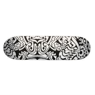 Black and white graffiti minimal art skateboard deck
