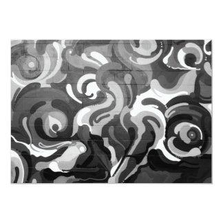 Black and White Graffiti Swirl Pattern in San Fran Card