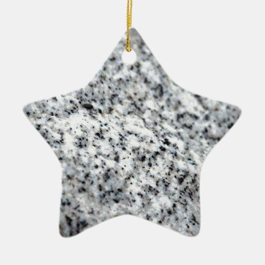 Black and White Granite Rock Ceramic Ornament