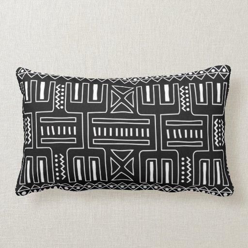 Black and white graphic cushion rectangular throw pillow Zazzle