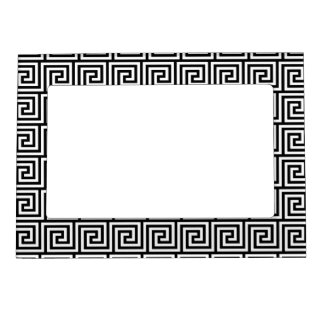 Black and White Graphic Greek Key Pattern Magnetic Picture Frame