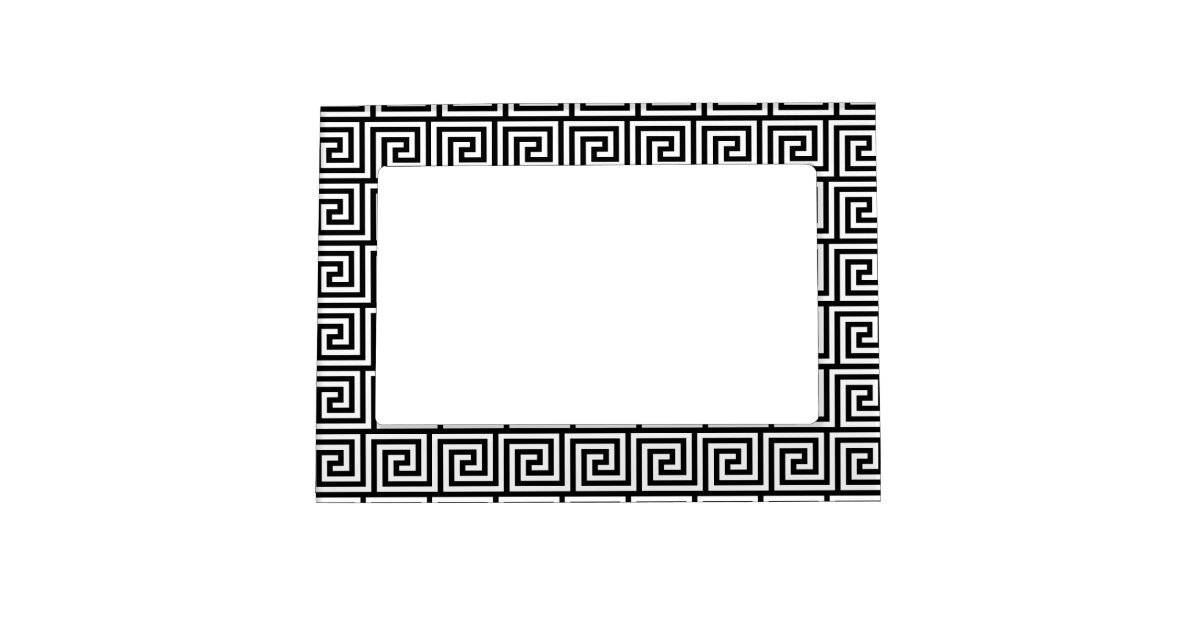 Black and White Graphic Greek Key Pattern Magnetic Picture Frame ...