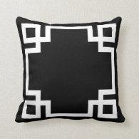 Black and White Greek Key Throw Pillows