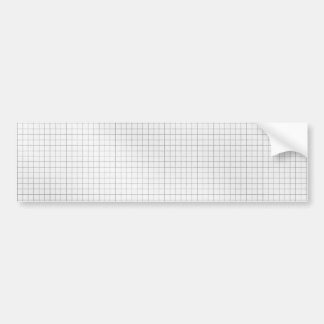 Black and White Grid Pattern on Paper Bumper Sticker
