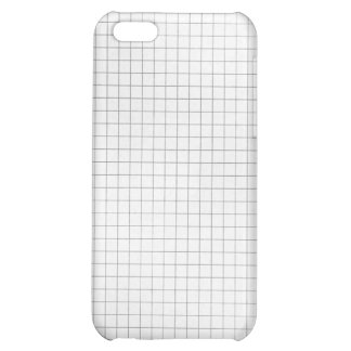 Black and White Grid Pattern on Paper Cover For iPhone 5C
