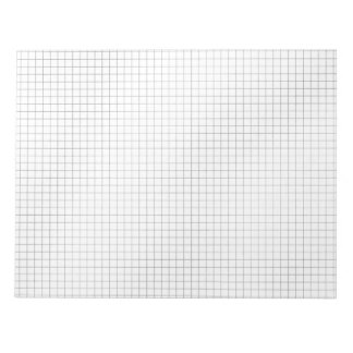 Black and White Grid Pattern on Paper Note Pad