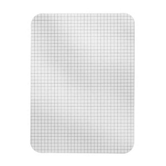 Black and White Grid Pattern on Paper Rectangle Magnets