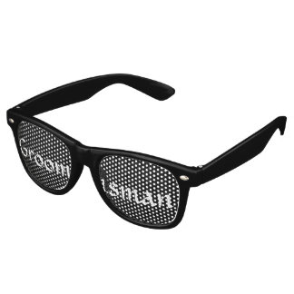 Black and White Groomsman Fun Bachelor Party Retro Sunglasses