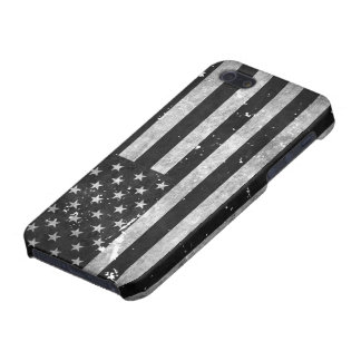 Black and White Grunge American Flag iPhone 5/5S Cover