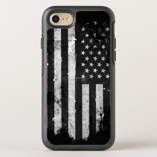 Black and White Grunge American Flag OtterBox Symmetry iPhone 7 Case