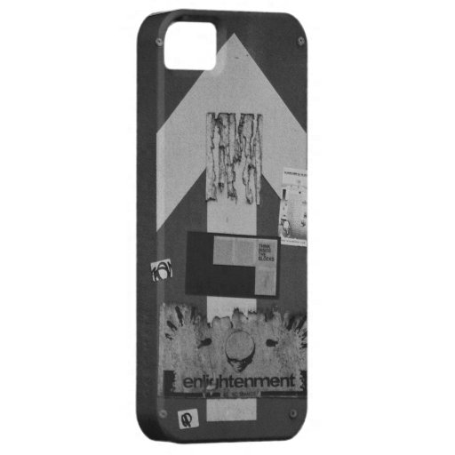 Black and white grunge arrow sign iPhone 5 case