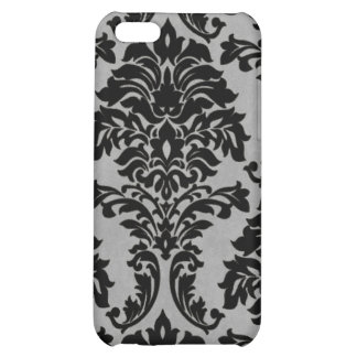 Black and White Grunge Damask Case For iPhone 5C
