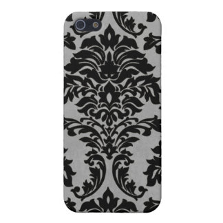 Black and White Grunge Damask  iPhone SE/5/5s Cover