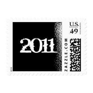 Black and White Grunge Graduation Postage Stamp