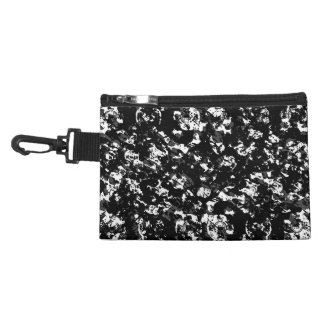 Black and White Grunge Pattern Accessory Bag