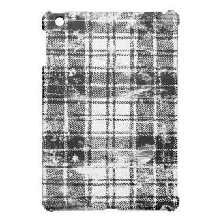 Black and White Grunge Plaid iPad Case