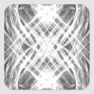 Black and white grunge punk square stickers
