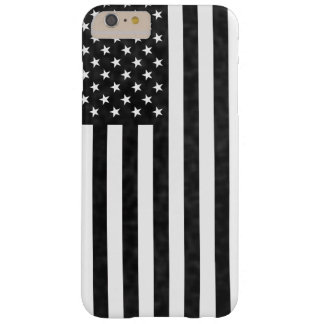 Black and White grunge vintage American Flag Barely There iPhone 6 Plus Case