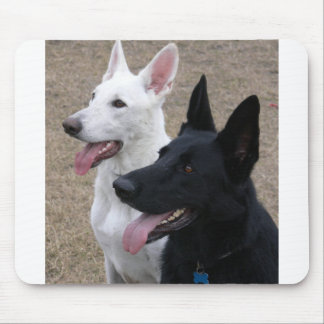Black and White GSD Mouse Pad