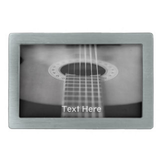 Black and White Guitar Belt Buckle