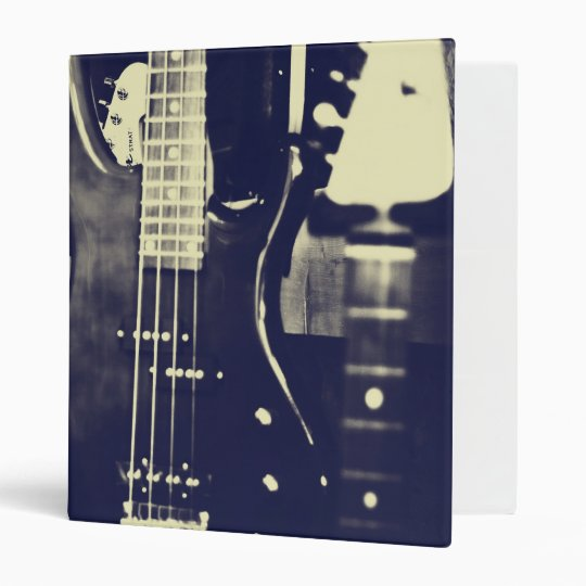 Black and white Guitar binder