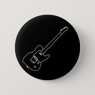 black and white guitar button