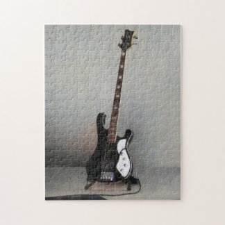 Black and White Guitar Jigsaw Puzzle