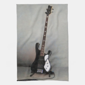 Black and White Guitar Kitchen Towel