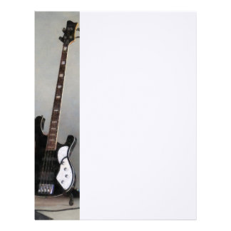 Black and White Guitar Letterhead Template