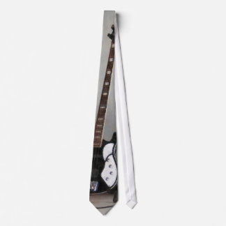 Black and White Guitar Neck Tie